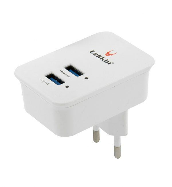 Зарядное для телефона 5V, 2.4 A + кабель microUSB (DUAL USB)