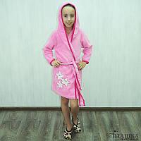 Детский махровый халат для девочек АЛЕША