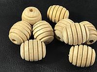 Деревянные заготовки для рукоделия бочонок с резьбой 25х22 мм