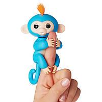 Интерактивная ручная обезьянка Fingerlings Boris Fun Monkey синяя