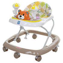 Детские ходунки  BAMBI М 3656 Мишутка бежевые Гарантия качества Быстрая доставка