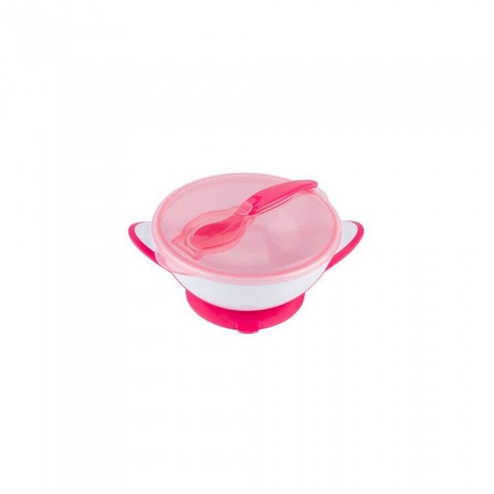 Тарелка на присоске с ложечкой,  для девочки тм Babyono (300мл)