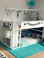 Двухэтажный  домик-кровать, фото 1