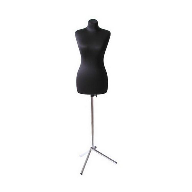 Манекен портновский женский р52 твёрдый цв чёрный (комплект) ГОСТ