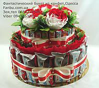 "Торт из киндер шоколада 2 яруса ""Новогодний вираж"""