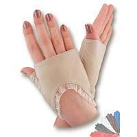 Женские перчатки митенки из натуральной кожи модель 342.