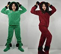 Женский махровый костюм-пижама с ушками Микки