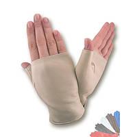 Женские перчатки митенки из натуральной кожи модель 380.