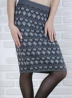 Облегающая теплая юбка KN-0041
