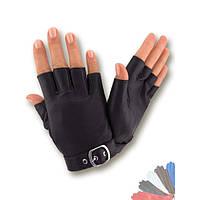 Женские перчатки митенки из натуральной кожи модель 403.