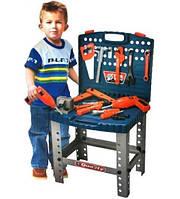 Детский набор инструментов Моя мастерская 008-22, чемодан на ножках, 57 деталей, игрушечные инструменты, фото 1