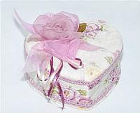 "Шкатулка тканевая ""Розы""  (18*17*7 см) бархатная"