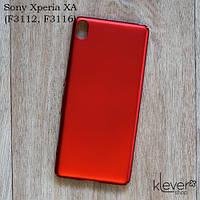 Пластиковый чехол накладка для Sony Xperia XA (F3112, F3116) (красный)