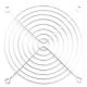 Решетка (гриль) для вентиляторов 120mm, Silver