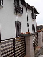 Балконные ограждения ламели прямоугольные 40*10
