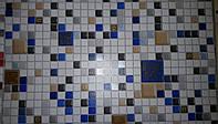 Клеточка 5584-03 виниловые обои супермойка длина рулона 15 м ширина 0.53м=5 полос по 3 м каждая