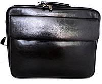 Деловой портфель Сумка для ноутбука. Кожаный. Италия. Черный