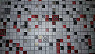 Клеточка 5584-10 виниловые обои супермойка длина рулона 15 м ширина 0.53м=5 полос по 3 м каждая