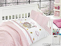 Комплект постельного белья детский First Choice Satin Bamboo Kitty Pembe
