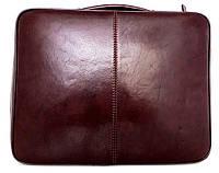 Папка-портфель из натуральной кожи (Италия). Коричневый, фото 1