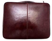Папка-портфель из натуральной кожи (Италия). Коричневый