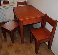 Набор деревянной кухонной мебели 2 ( стол, два табурета, два стула )
