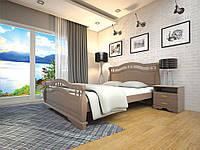 Кровать Атлант 22  деревянная полуторная 120 (Тис)