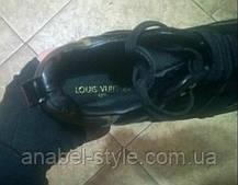 Кросівки Жіночі Loui$ натуральна шкіра і замша чорні Код 1229, фото 2