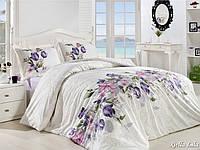 Комплект постельного белья First Choice Ranforce полуторный Riella Lila