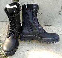 Зимние армейские ботинки, берцы! На меху. Шнуровка+змейка., фото 1