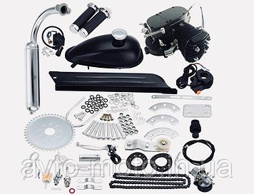 Двигун на велосипед Ф80 cc без стартера чорний