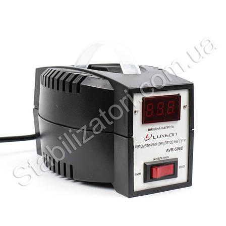 Luxeon AVR-500 D - стабилизатор для котла газового твердотопливного Стабілізатор напруги с дисплеем индикацией, фото 2