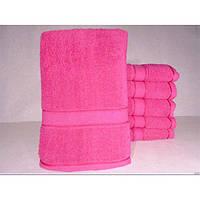 Махровые однотонные банные полотенца ПБ0121