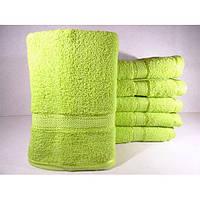 Махровые однотонные банные полотенца ПБ0125
