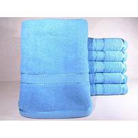 Махровые однотонные банные полотенца ПБ0129