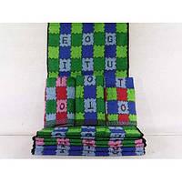 Махровые кухонные полотенца с рисунком в квадрат ПК00100