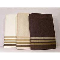 Махровые однотонные банные полотенца ПБ0182