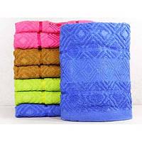 Махровые лицевые полотенца с вышивкой и выбитым полотном ПЛ0191