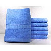 Махровые однотонные банные полотенца ПБ0201