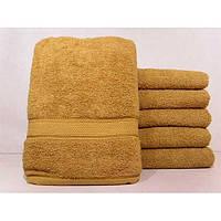 Махровые однотонные банные полотенца ПБ0227
