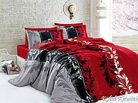 Комплект постельного белья First Choice Satin Cotton семейный Eylul kirmizi