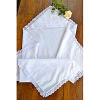 Батистовая крыжма для крещения с белой вышивкой  GD-40-14-3