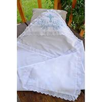 Батистовая крыжма для крещения с вышивкой для мальчиков GD-40-14-4