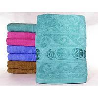 """Махровые банные полотенца с вышивкой """"Рыбки в море"""" ПБ0291"""