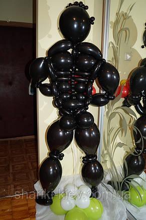 Фигура стриптизера афроамериканца из шаров на День рождения, Юбилей, девишник , фото 2