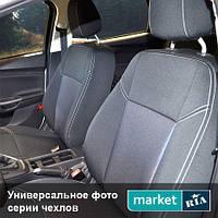 Чехлы для Daewoo Lanos, Серый + Серый цвет, Автоткань
