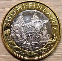 Монета Финляндии. 5 евро 2015 год Рысь