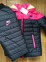 Зимний спортивный женский костюм Nike на синтепоне и меху 42 по 48р., фото 1