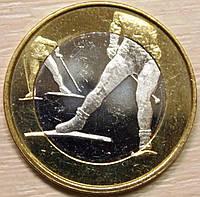 Монета Финляндии. 5 евро 2016 г. Лыжи, фото 1
