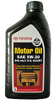 Toyota Motor Oil SAE 5W-20 синтетическое моторное масло, 0,946 л (00279-1QT20)